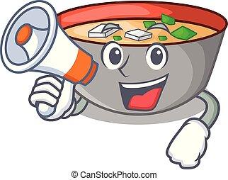 miso, ボール, 日本語, スープ, メガホン, 漫画