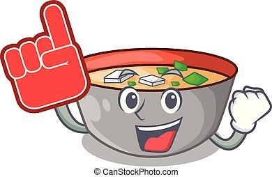 miso, espuma, refeição, sopa, dedo, gostosa, caricatura