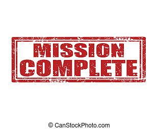 missão, complete-stamp