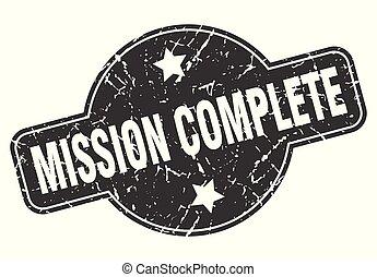 missão, completo