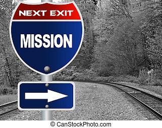 missão, sinal estrada