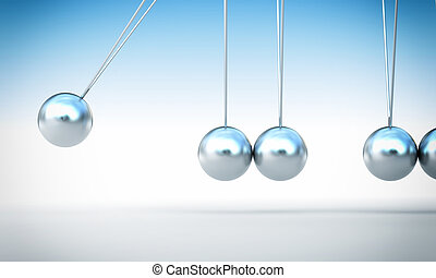 miss a ball - classic chrome newton cradle without ball