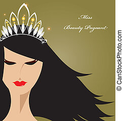 Miss Beauty Pageant  - The gorgeous lady for beauty pageant.