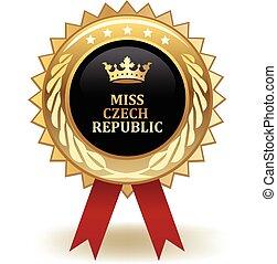 Miss Czech Republic Award - Gold miss Czech Republic winning...