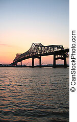 Miss. River Bridge - Mississippi River Bridge in Baton...