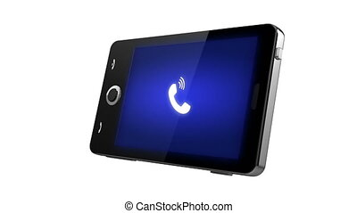 Missed call concept with alpha - Missed call concept with...