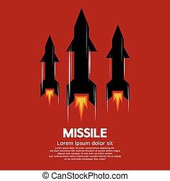 Missile. - Missile Vector Illustration.