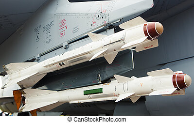 missiles on the jet fighter aircraft