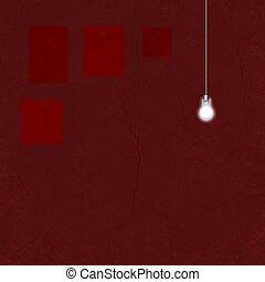 Missing Art and light bulb