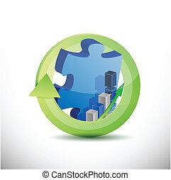 missing business puzzle piece concept