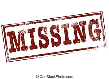 missing - grunge stamp with text missing on vector...