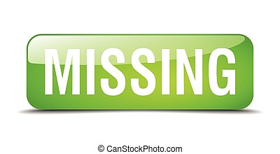 missing green square 3d realistic isolated web button