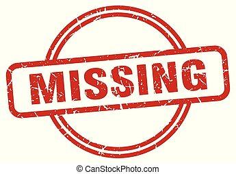 missing grunge stamp - missing round vintage grunge stamp