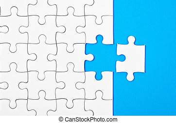 Missing jigsaw puzzle pieces. - Missing jigsaw puzzle pieces...