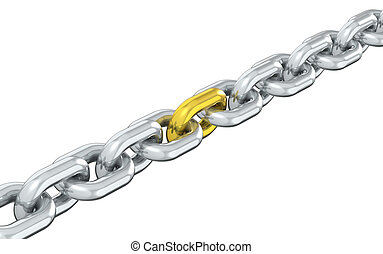 Missing Link - Chain with one Golden link