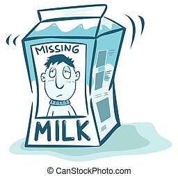 Missing man on milk