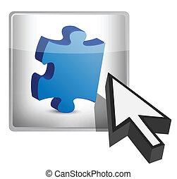 missing piece concept button