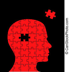 Missing piece puzzle head vector