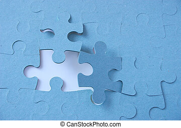 missing piece - jigsaw with a missing piece