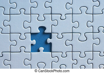 missing Piece - puzzle with one missing piece