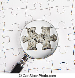 Missing Puzzle And Magnifying Glass