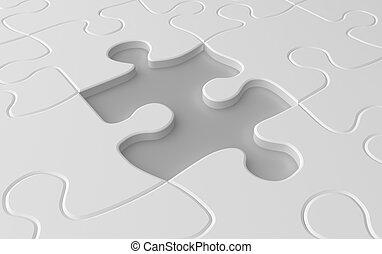 Missing puzzle piece concept
