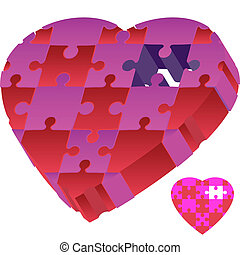 Missing Puzzle Piece isolated on a white background.