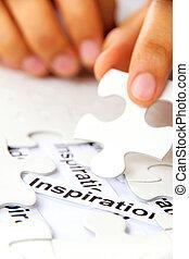 missing puzzle piece, find inspirat