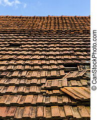 Missing roof tiles