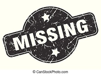 missing round grunge isolated stamp