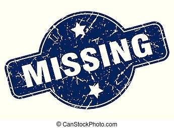 missing sign - missing vintage round isolated stamp