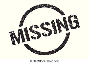 missing stamp - missing black round stamp