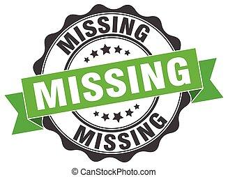 missing stamp. sign. seal