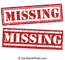 Missing stamps - Missing grunge rubber stamps on white,...