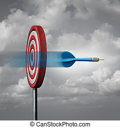 Missing The Target - Missing the target concept as a dart...