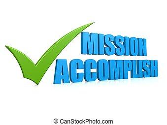 Mission accomplish - Hi-res original 3d-rendered computer...