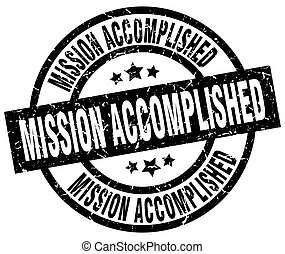 mission accomplished round grunge black stamp