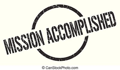 mission accomplished stamp - mission accomplished black...