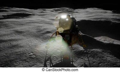 mission, atterrissage lunaire, lune