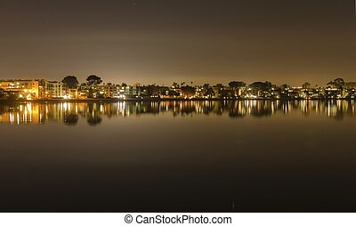 Mission Bay, San Diego, California - A night view of the ...
