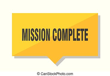 mission complete price tag - mission complete yellow square...