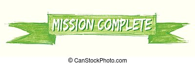 mission complete ribbon - mission complete hand painted...
