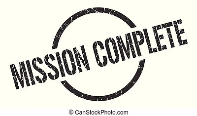 mission complete stamp - mission complete black round stamp