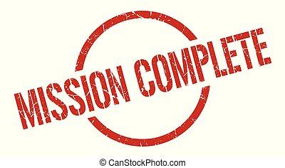 mission complete stamp - mission complete red round stamp