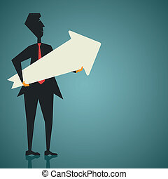 mission concept - businessmen take arrow stock vector