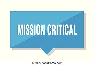 mission critical price tag - mission critical blue square...