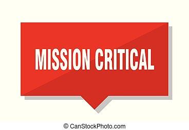 mission critical red tag - mission critical red square price...