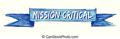 mission critical ribbon - mission critical hand painted...