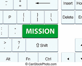Mission green keyboard button