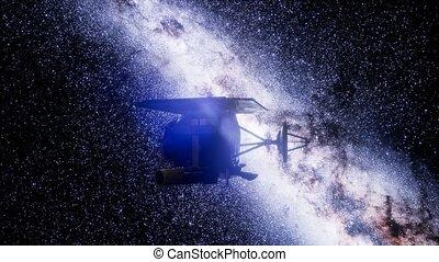 mission, impact, espace, profond, sonde